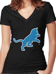 Motor City Kitties Women's Fitted V-Neck T-Shirt