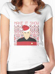 Trekky Xmas Women's Fitted Scoop T-Shirt