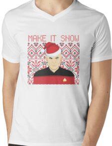 Trekky Xmas Mens V-Neck T-Shirt
