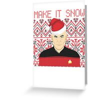 Trekky Xmas Greeting Card