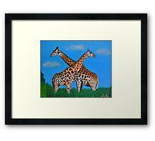 Cross-star Giraffe Lovers Framed Print