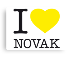 I ♥ NOVAK Canvas Print