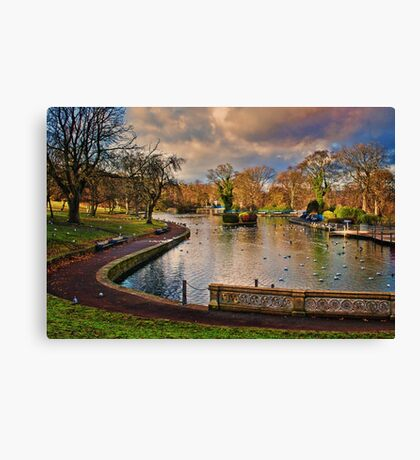 The Boating Lake Canvas Print