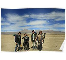 backpacking around Poster