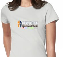 New York Spartan Chick orange/blue Womens Fitted T-Shirt