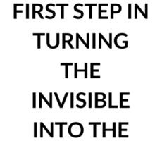 TONY ROBBINS QUOTE: SETTING  GOALS  IS THE  FIRST STEP IN TURNING  THE  INVISIBLE  INTO THE  VISIBLE Sticker