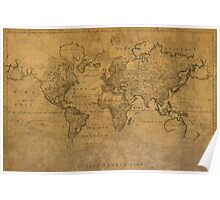 Map of the World 1784 Poster