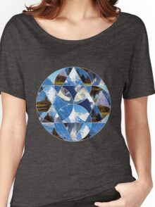 Swiss Alps Abstract Geometric Graphic Women's Relaxed Fit T-Shirt