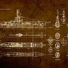 Submarine Blueprint by designturnpike