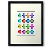 Android Andy Warhol color effect style Framed Print