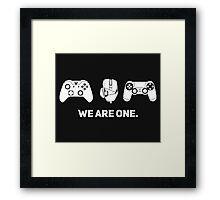 We Are One - White Framed Print