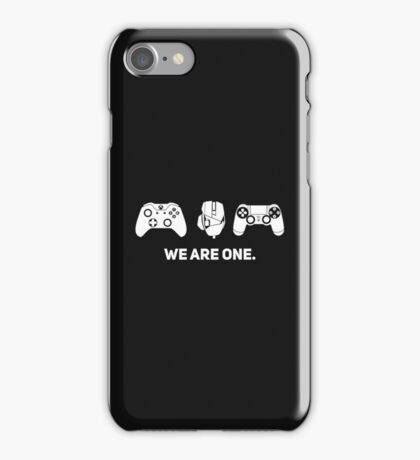 We Are One - White iPhone Case/Skin