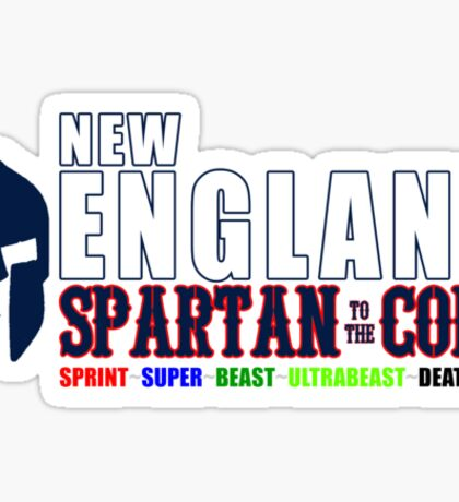 New England Spartan Men red/blue Sticker