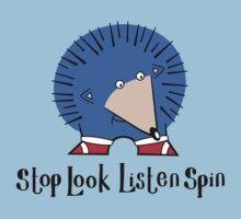 Stop Look Listen Spin by OrangeRakoon