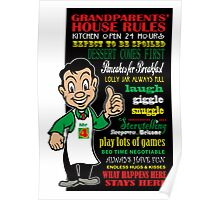 Grandparents House Rules - 4 Square Poster