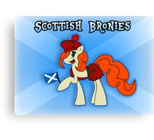 Scottish Bronies - Ginger Snap Canvas Print