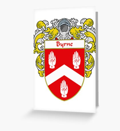 Byrne Coat of Arms/Family Crest Greeting Card