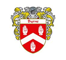 Byrne Coat of Arms/Family Crest Photographic Print