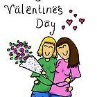 happy valentine's day - gay women by amiemo162