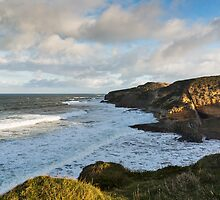 Cove Bay, Hopeman, December High Tide by JASPERIMAGE