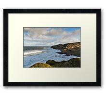 Cove Bay, Hopeman, December High Tide Framed Print