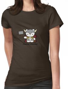 Meow Meow II Kitty Thor Womens Fitted T-Shirt