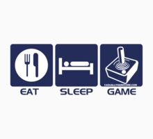 Eat Sleep Game Retro by GeekGamer