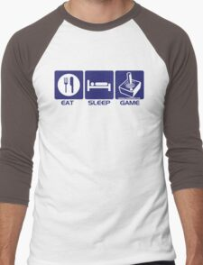 Eat Sleep Game Retro Men's Baseball ¾ T-Shirt