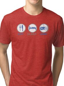 Eat Sleep Game Tri-blend T-Shirt