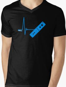 Gamer Heart Beat Mens V-Neck T-Shirt