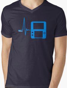 Gamer Heart Beat Mens V-Neck T-Shirt