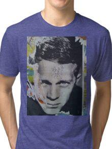 Steve McQueen Graffiti Wall - NYC Tri-blend T-Shirt