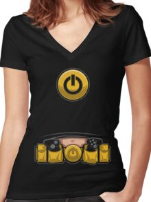 Super Geek Utility Belt Women's Fitted V-Neck T-Shirt
