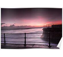 Filey Tidal Surge - Long exposure. Poster