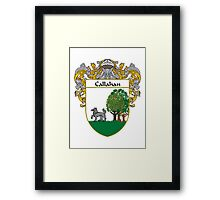 Callahan Coat of Arms/Family Crest Framed Print