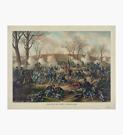 Civil War Battle of Fort Donelson February 16th 1862 by Kurz & Allison Photographic Print