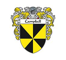 Campbell Coat of Arms/Family Crest Photographic Print
