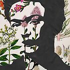 Frida Kahlo Vintage Floral Samsung Phone Case by georgiagraceart