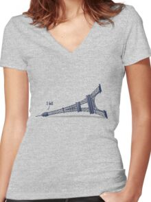I Fell Tower Women's Fitted V-Neck T-Shirt