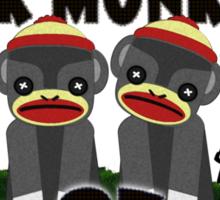 Giant Sock Monkeys of Easter Island Sticker