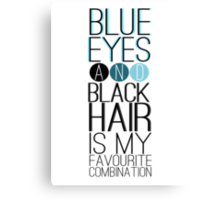 Magnus Bane: Blue Eyes and Black Hair 2 Canvas Print