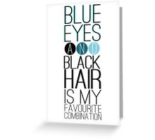 Magnus Bane: Blue Eyes and Black Hair 2 Greeting Card