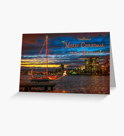 Merry Christmas from Boston Greeting Card