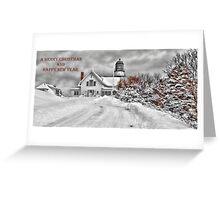 Cape Elizabeth Light Christmas Card Greeting Card