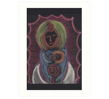 Goddess - Mary with child Art Print