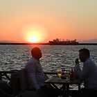 Sunset over Izmir Bay in Turkey by Shelby  Stalnaker Bortone