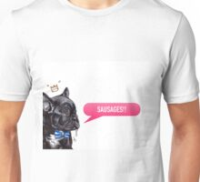 Frenchie Loves Sausages! Unisex T-Shirt