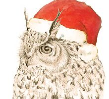 Christmas Owl by LydiaWoods