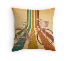 Retrospective Cycle Throw Pillow