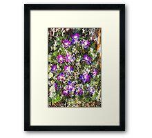 Flower in water color Framed Print